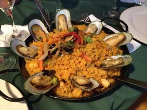 Paella at Plato's